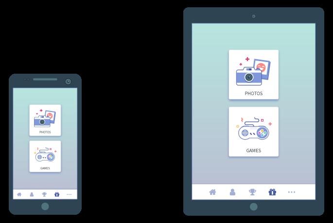 Apperçu de la web app ActiveServices sur smartphone et tablette